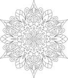 Abstract vector rond kantontwerp - mandala, decoratief element Royalty-vrije Stock Foto
