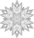 Abstract vector rond kantontwerp - mandala, decoratief element Royalty-vrije Stock Foto's