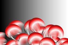 Abstract vector rood zwart-wit bloemenblad met zwarte en grijze in de schaduw gestelde Achtergrond Vector illustratie Royalty-vrije Stock Afbeelding