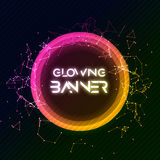 Abstract vector round banner. Glowing circle shining shape. Creative banner design Royalty Free Stock Photos