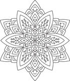 Abstract vector round lace design - mandala, decorative element Stock Images