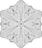Abstract vector round lace design - mandala, decorative element Royalty Free Stock Photos