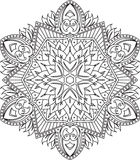Abstract vector round lace design - mandala, decorative element Royalty Free Stock Image
