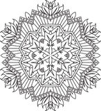 Abstract vector round lace design - mandala, decorative element Royalty Free Stock Photo
