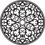 Abstract vector round lace design - mandala, decorative element Stock Photos