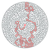 Abstract vector round maze of high complexity Stock Images