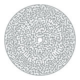 Abstract vector round maze of high complexity Stock Photo