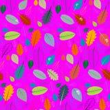 Abstract Vector Roze Retro Naadloos Patroon royalty-vrije illustratie