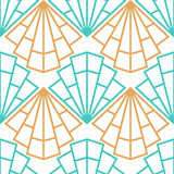 Abstract vector seamless Art Deco pattern with stylized shell Royalty Free Stock Photography