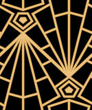 Abstract vector seamless Art Deco pattern with stylized shell. Royalty Free Stock Photo