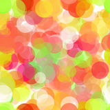 Abstract vector seamless background with colored circles on white.  Royalty Free Stock Photography