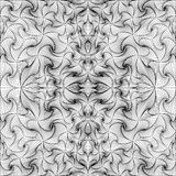 Abstract vector seamless black. White background of lines. Monochrome pattern Stock Photography