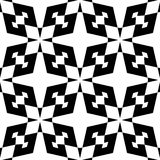 Black and white seamless decorative element stock photography