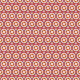Abstract vector seamless circle and line pattern Royalty Free Stock Image