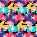 Abstract vector seamless color op art pattern. Background with color combinations graphic ornament. EPS10.  stock illustration