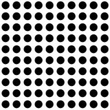 Abstract Vector Seamless geometric pattern Black and white Stock Image