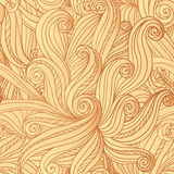 Abstract vector seamless hand-drawn hair pattern Stock Images