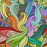 Abstract vector seamless hand-drawn pattern Royalty Free Stock Image