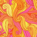 Abstract vector seamless hand-drawn pattern stock photos