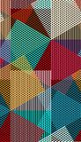 Abstract vector seamless moire pattern with cubic lattice lines. Colorful graphic ornament.  vector illustration