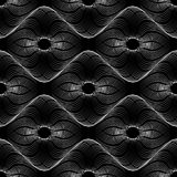 Spirograph geometric repeating texture. Abstract vector seamless moire pattern Royalty Free Stock Images