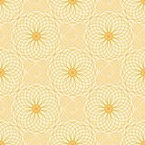 Abstract vector seamless moire pattern with lines. Spirograph geometric repeating texture Royalty Free Stock Image