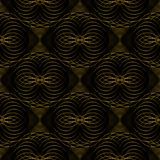 Abstract vector seamless moire pattern with lines. Spirograph geometric repeating texture Stock Photo
