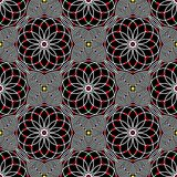 Abstract vector seamless moire pattern with lines. Spirograph graphic black and white ornament. Stock Images