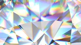Luxury gemstone sparkling diamond looped. Colorful kaleidoscope seamless loop background. Shiny rotating crystal.