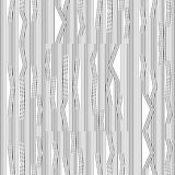 Abstract vector seamless moire pattern with waving curling lines. Monochrome graphic black and white ornament. Striped repeating Royalty Free Stock Photo