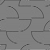 Abstract vector seamless op art pattern. Black and white pop art, graphic ornament. Optical illusion.  vector illustration