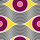 Abstract vector seamless op art pattern. Colorful   Royalty Free Stock Image