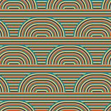 Abstract vector seamless op art pattern. Colorful pop art, graphic ornament. Optical illusion 70s. Abstract vector seamless op art pattern. Colorful pop art Stock Illustration