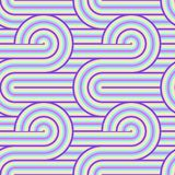 Abstract vector seamless op art pattern. Colorful pop art, graphic ornament. Optical illusion 70s. Abstract vector seamless op art pattern. Colorful pop art Royalty Free Illustration