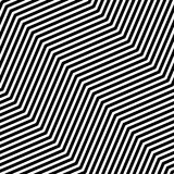 Abstract vector seamless op art pattern. Monochrome graphic black and white ornament. Striped optical illusion repeating texture. Abstract vector seamless op Stock Photo
