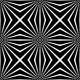 Abstract vector seamless op art pattern. Monochrome graphic black and white ornament Royalty Free Stock Photography