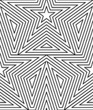 Abstract vector seamless op art star pattern. Line art. Graphic ornament. Optical illusion Royalty Free Stock Photos