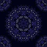 Abstract vector seamless ornamental round mandala pattern Royalty Free Stock Images