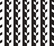 Abstract Vector Seamless Pattern. Black and White Vector Seamless Pattern. Can be used as Background Royalty Free Stock Images