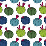 Abstract vector seamless pattern with cactus Royalty Free Stock Image