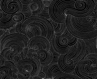 Abstract vector seamless pattern with curling wave lines Royalty Free Stock Photo