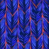 Abstract vector seamless pattern of exotic leaves in vivid colors. Abstract seamless pattern of exotic leaves in vivid colors. Bright vector design drawn in the vector illustration