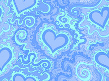 Abstract vector seamless pattern with figured hearts. Endless texture. You can use it as a decorative element in cards, fabric prints, interior design Royalty Free Stock Photos