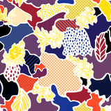 Abstract vector seamless pattern. With floral elements Royalty Free Stock Photography