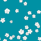 Abstract vector seamless pattern with flowers Stock Image