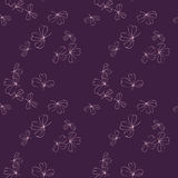Abstract vector seamless pattern with flowers Royalty Free Stock Photography