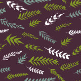 Abstract vector seamless pattern with flowers and leaves Stock Photos