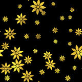 Abstract vector seamless pattern with gold circles Royalty Free Stock Photography