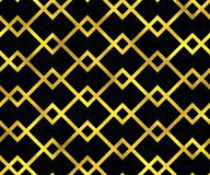 Abstract vector seamless pattern with golden lines. Abstract vector seamless pattern background with golden lines and rhombus Stock Image