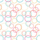 Abstract  seamless pattern with  circles Stock Photos